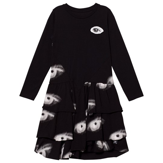 NUNUNU Layered Eye Dress Black Black