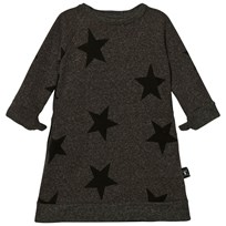 NUNUNU Star A Dress Charcoal Charcoal