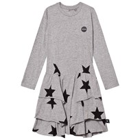 NUNUNU Star Layered Dress Heather Grey Grey