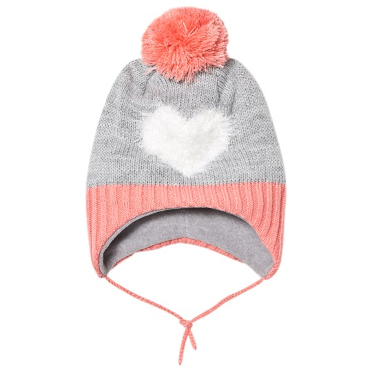 Barts Heart Milkyway Inka Beanie Grey/Pink 08 BLUSH