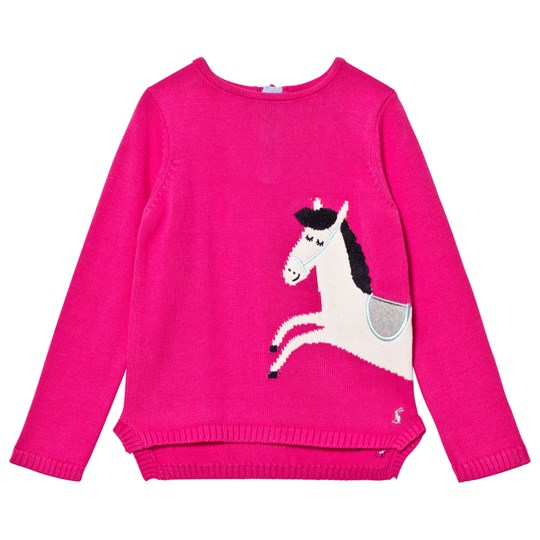 Tom Joule Pink Horse Intarsia Knit Jumper TRUE PINK HORSE