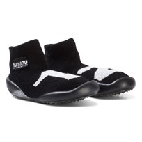 NUNUNU Number Slippers Black Black