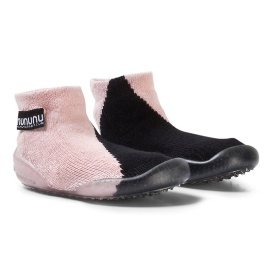 NUNUNU Half and Half Slippers Black/Powder Pink BLACK/POWDER PINK