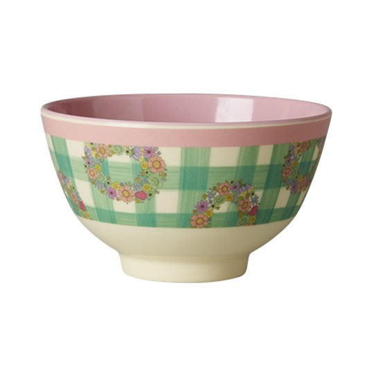 Rice Melamine Bowl with Vichy Print Vichy Print
