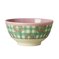 Rice Small Melamine Bowl with Vichy Print Vichy Print