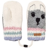 Barts White Bear Bouly Mittens 10 MASCAPONE