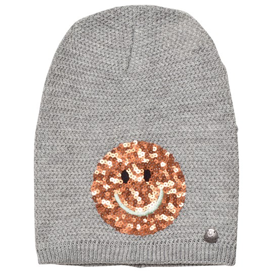 Barts Light Grey Smiley Face Fable Beanie 02 HEATHER GREY