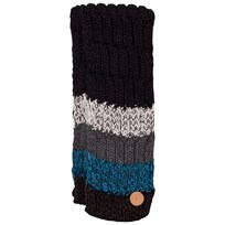 Barts Black and Blue Stripes Wilhelm Scarf 01 BLACK
