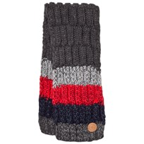 Barts Dark Grey and Red Stripes Wilhelm Scarf 19 ANTHRACITE
