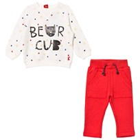 Tom Joule Cream Bear Cub Print Sweatshirt and Red Bottoms Set BEAR CUB TRIANGLE