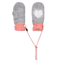 Barts Grey and Pink Heart Milkyway Mittens 08 BLUSH
