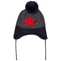 Barts Grey/Black Star Milkyway Inka Beanie 19 DARK HEATHER