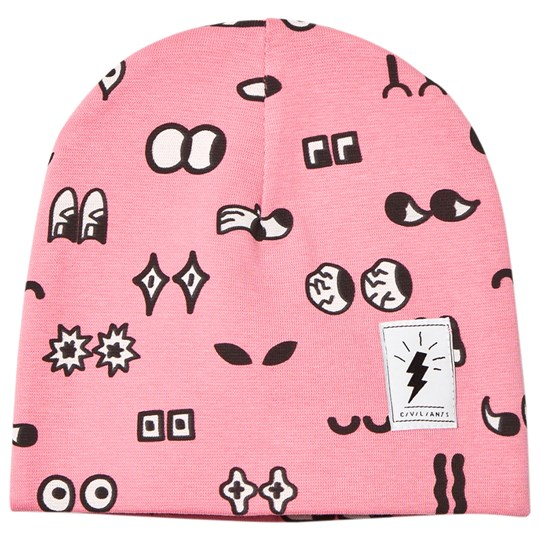 Civiliants Allover Print Jersey Beanie Pink Pink