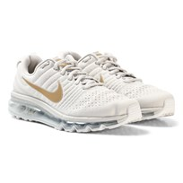 NIKE Nike Air Max Junior Shoe White/Gold LIGHT BONE/METALLIC GOLD-METALLIC SILVER