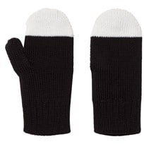 Papu Kivi Mittens Black/White Sort