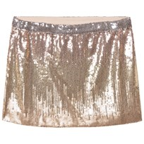 Velveteen Heidi Skirt Powder Pink Sequins SQG