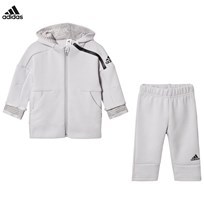 adidas Performance Infants Zone Hoodie Sweatpants Set Grey Top:GREY TWO F17/BLACK Bottom:GREY TWO F17/BLACK