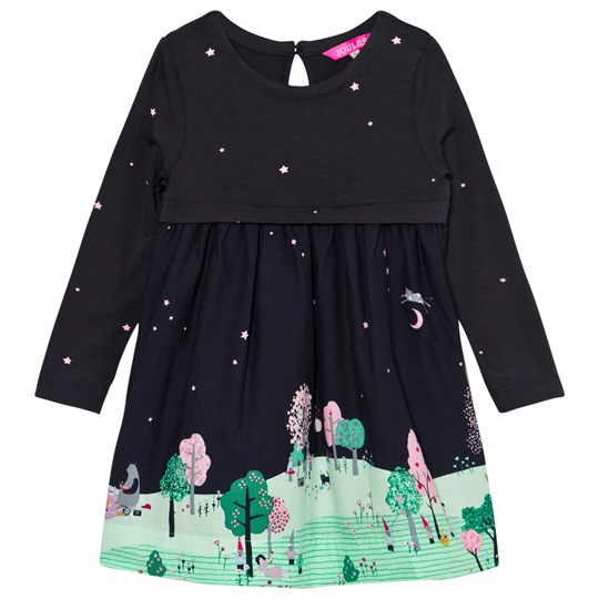Tom Joule Merrie Countryside Scene Dress FRENCH NAVY FAIRYTALE