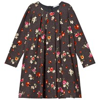Dolce & Gabbana Grey Herringbone Floral and Lady Bird Print Interlock Dress HJE95