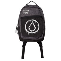 Volcom Black and Grey Branded Backpack INK
