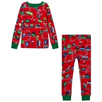 Hatley Red Train Print Pyjamas Red