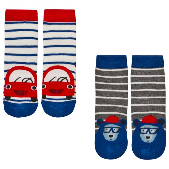 Tom Joule 2 Pack of Blue Car and Bear Socks CAR