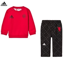 adidas Performance Man U Infant Sweater and Sweatpants Set Top:REAL RED S10/BLACK Bottom:GREY THREE F17/BLACK