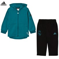 adidas Performance Real Madrid Infant Hoodie and Sweatpants Set Top:VIVID TEAL S13/BLACK Bottom:GREY FIVE F17/BLAC