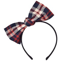 Jessie & James Red Origami Big Bow Headband HERITGE TARTAN