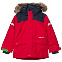 Didriksons Storlien Kids Jacket Red Red