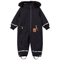 Mini Rodini Kebnekaise Fox Family Overall Svart Black