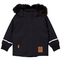 Mini Rodini K2 Fox Family Parka Black Black
