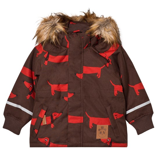 Mini Rodini K2 Dog Parka Brown BROWN