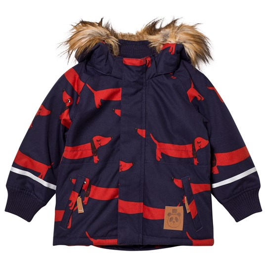 Mini Rodini K2 Dog Parka Navy Blue