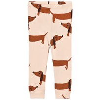 Mini Rodini Dog Leggings Beige Beige