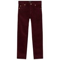 Mini Rodini Corduroy Tiger Fit Pants Burgundy Red