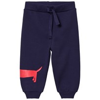 Mini Rodini Dog Sweatpants Navy Blue