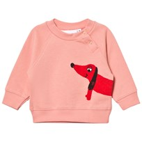Mini Rodini Dog Sweatshirt Pink Pink