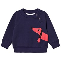 Mini Rodini Dog Sweatshirt Navy Blue