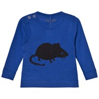 Mini Rodini Mr Mouse Wool Tee Blue Blue