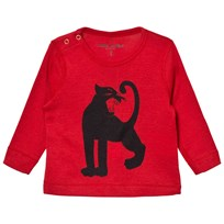 Mini Rodini Panther Wool Tee Red Red