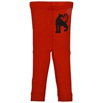 Mini Rodini Panther Wool Leggings Red Red