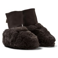Mini Rodini Faux Fur Baby Booties Brown BROWN