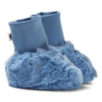 Mini Rodini Faux Fur Baby Booties Light Blue Blue