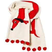 Mini Rodini Dog Scarf Off White White