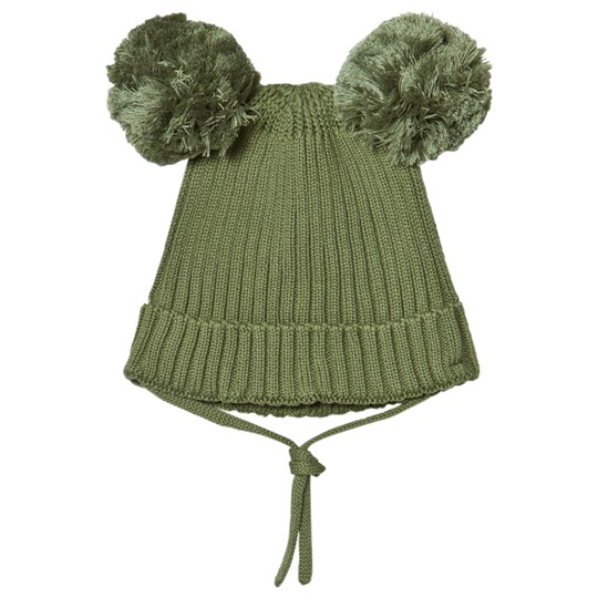 Mini Rodini Ear Hat Green Green