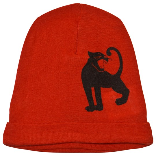 Mini Rodini Panther Wool Beanie Red Red