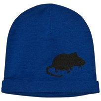Mini Rodini Mr Mouse Wool Beanie Blue Blue