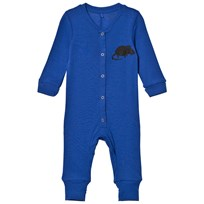 Mini Rodini Mr Mouse Ull Bodysuit Blå Blue