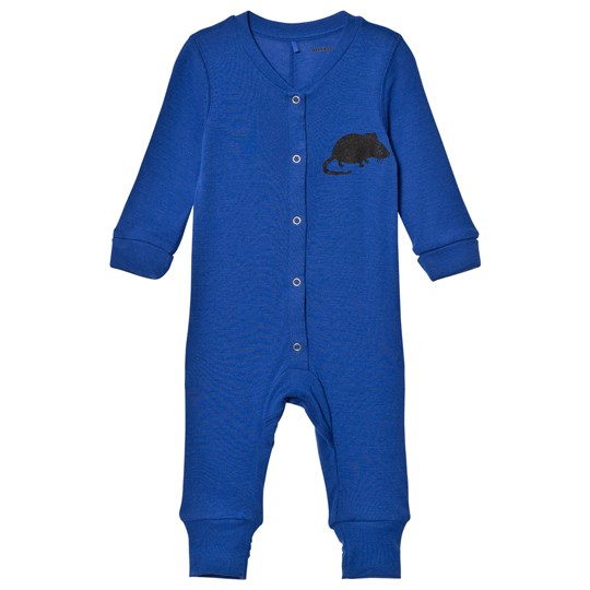 Mini Rodini Mr Mouse Wool One-Piece Blue Blue